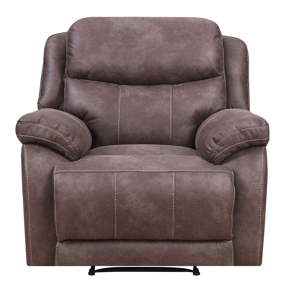 Mstar Hunter Lay Flat Power Recliner with Power Adjustable Headrest, USB Charging Port and Memory Foam Seat Topper