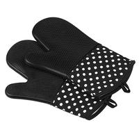 Oven Gloves Silicone Non-slip Heat-resistant Microwave Mitt for Restaurant best Quality By Taidoc