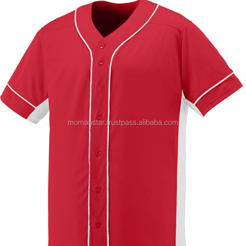 Hersteller Classic Custom Billig Wholesale Plain Blank Baseball Jersey Weiß
