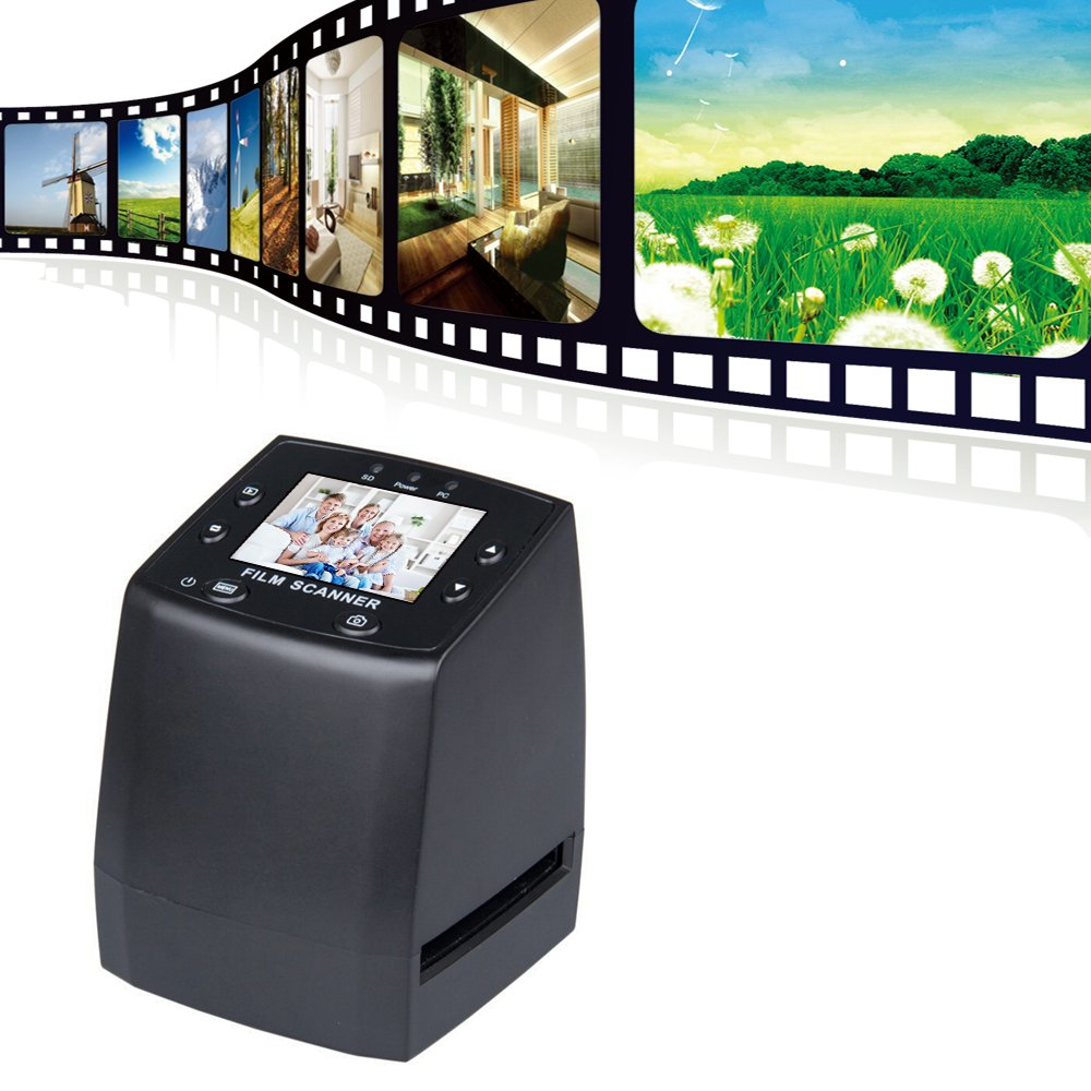 "Slide Negative Scanners USB 2.4"" LED Digital 35mm Film Negative Photi Scanner Slide Film Scanner ALL in 1 Film Scanner"