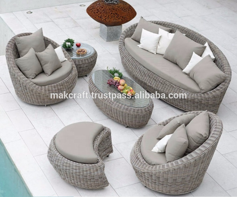 Wicker Rattan Outdoor Patio Garden Sofa Set Furniture -wicker Pe Rattan  Sofa Set Garden Outdoor Furniture - Buy Patio Furniture,Garden Outdoor