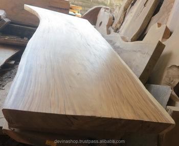 4 Meter Acacia Solid Slab Wood Dining Table