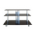 Black tempered decorative glass tv stand corner tv stand with  aluminum pipe