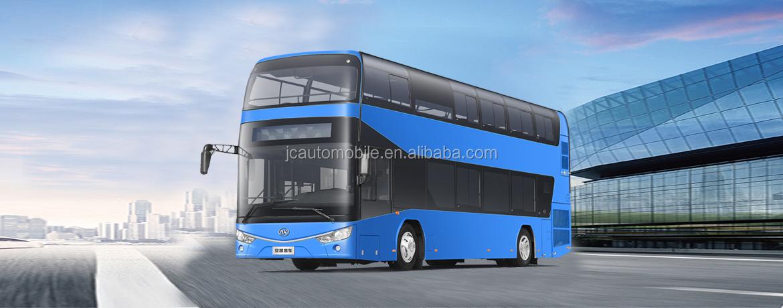 2020 Nieuwe Model 60-65 Zetels Volledige Gesloten Top Dubbeldekker Sightseeing Bus voor Toerisme