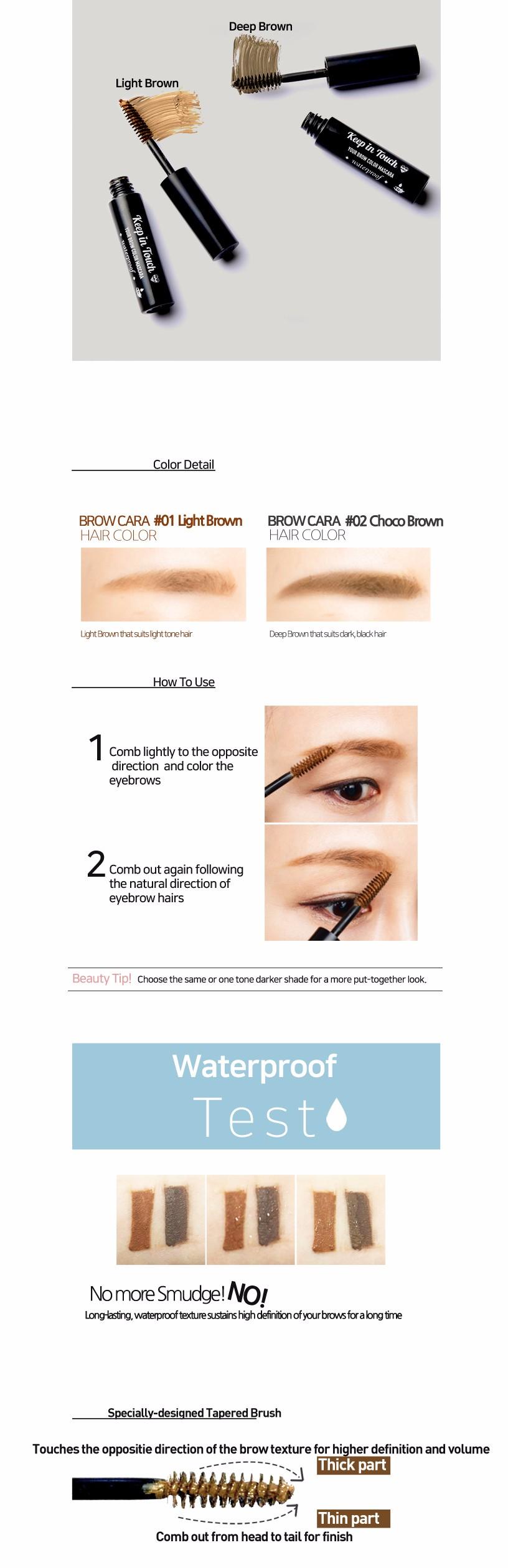 Paraon Koreankeep In Touch Eye Brow Eye Brow Color Mascara Buy
