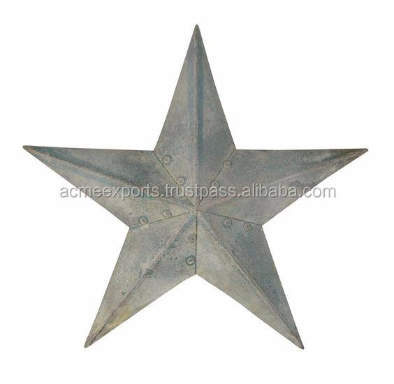 Rustic Metal Star Hanging Wall