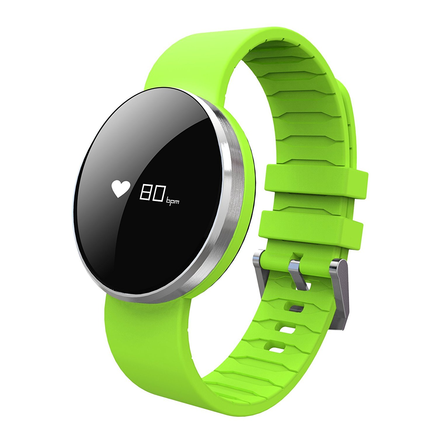 Smart Watches Calories Pedestrips Mileage Tracks Blood Pressure Heart Rate Real-Time Monitoring Fitness tracker Emergency Makeup Mirror IP67 Waterproof Sport Bracelet (green)