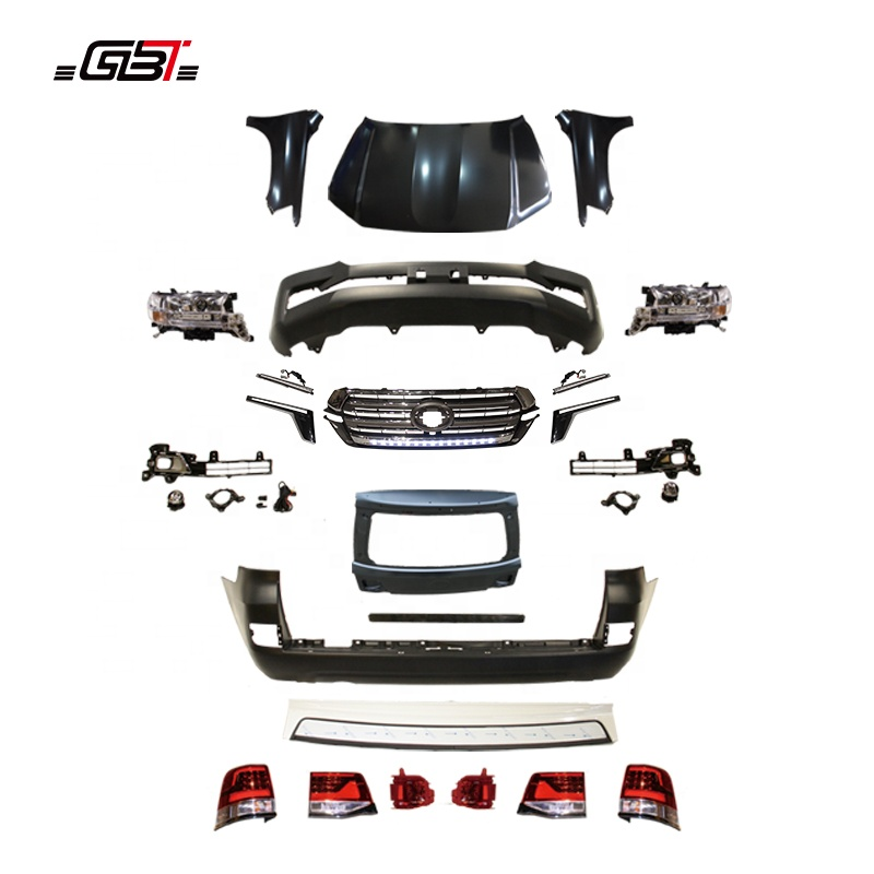 GBT body kit include front rear bumper grille with led light headlight For 2008-2015 upgrade to 2017 LC200 For Land Cruiser 200