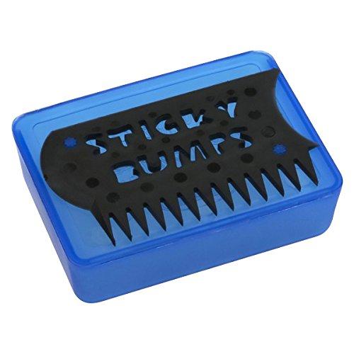 Sticky Bumps Wax Box /& Comb Clear//Black
