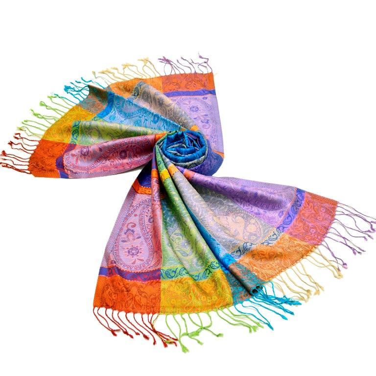Pashmina Scarf Stole Shawl Bulk Wholesale 5 X Assorted Mixed Colours