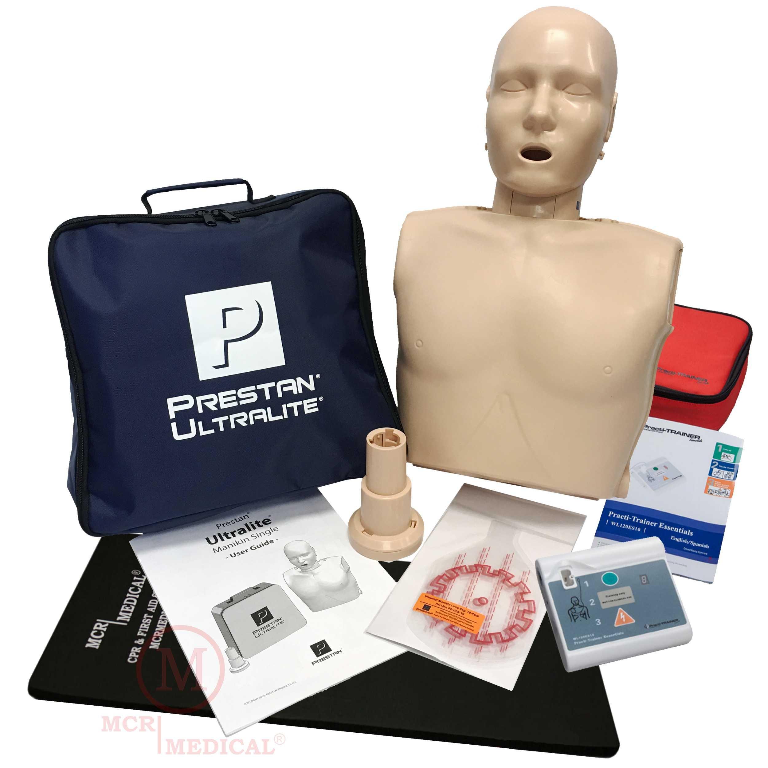 88c6100c17c Get Quotations · Basic CPR Training Kit w Prestan Ultralite CPR Manikin,  WNL Essentials AED Trainer, MCR