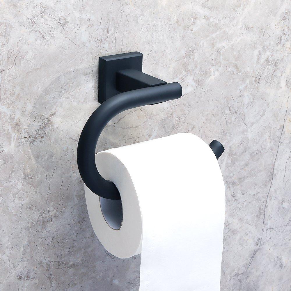 Alise GK8012-B Toilet Paper Holder Bathroom Tissue Holder Storage Wall Mount,SUS 304 Stainless Steel Matte Black