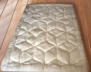 Alpaca Rug Carpet Natural White