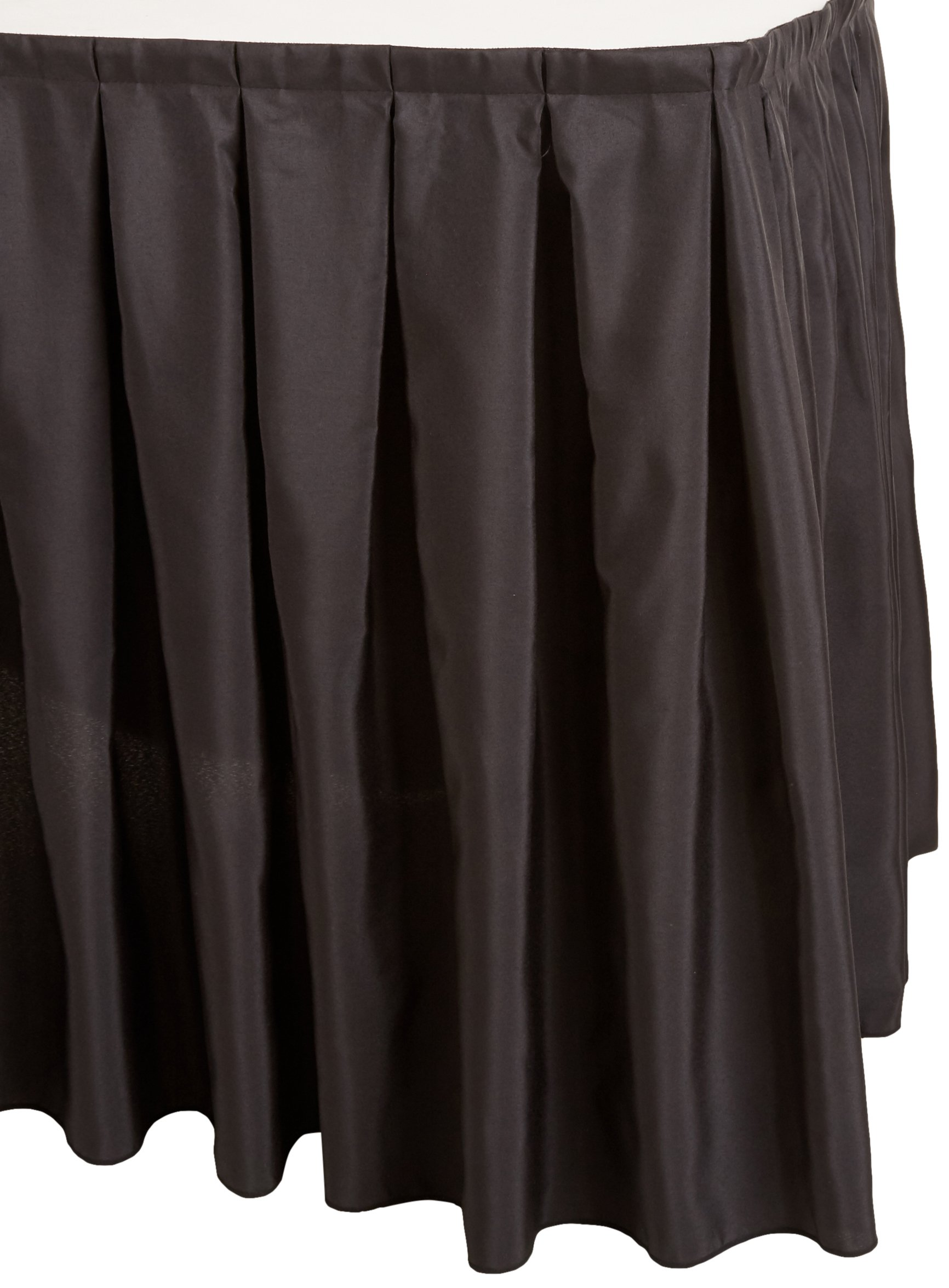 1d299b8102c8 Get Quotations · LinenTablecloth 14 ft. Accordion Pleat Polyester Table  Skirt Black