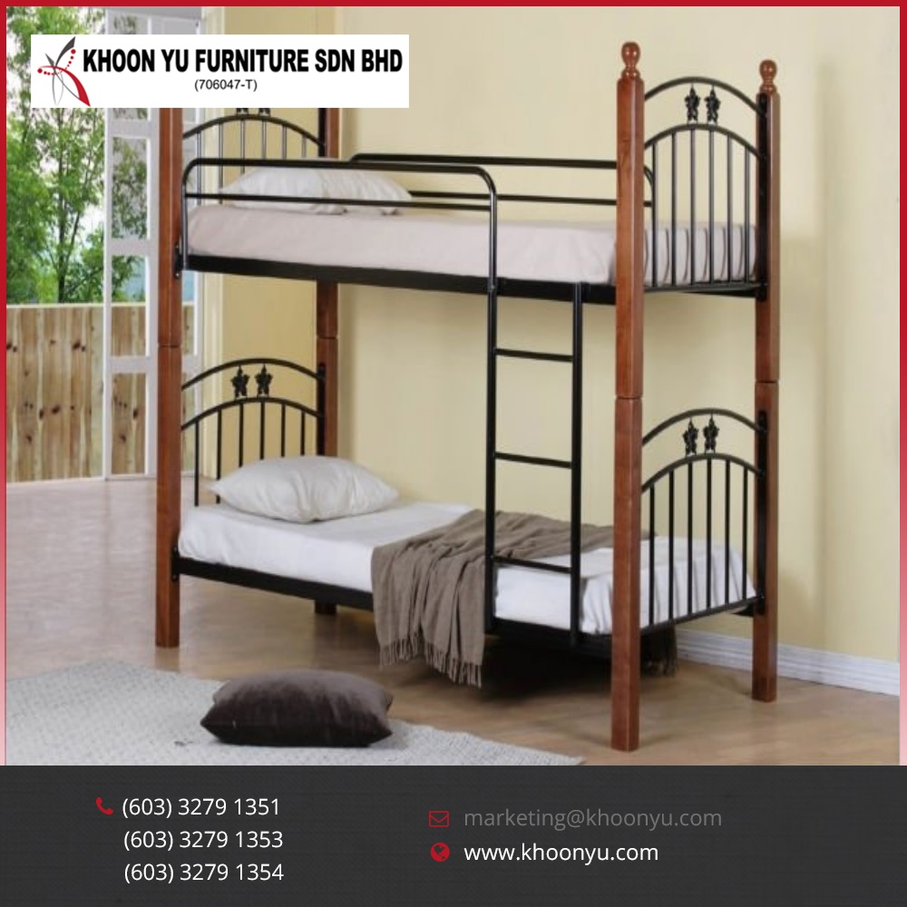 High Quality Metal Double Decker Bunk Bed Wooden Double Furniture
