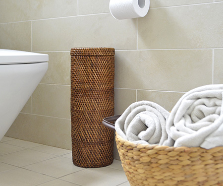 New design wicker toilet paper holder made of 100% natural rattan