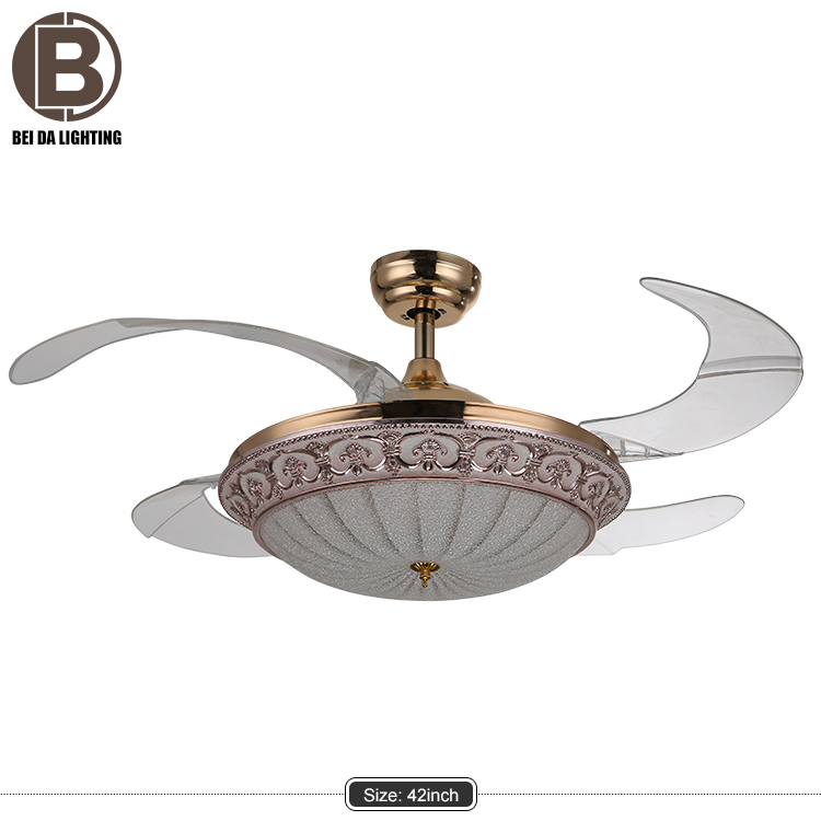 High quality 42 inch 36W LED remote controlled ceiling fan with led light