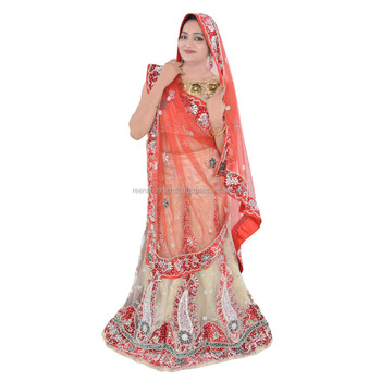 9d4d30852 Indian & Pakisthani Women Heavy Handwork Bridal With Blouse Handwork Freesize  Lehenga