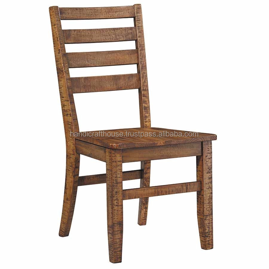Vintage Wooden Chairs >> Industrial Vintage Wooden Antique Natural Scooped Seat Dining