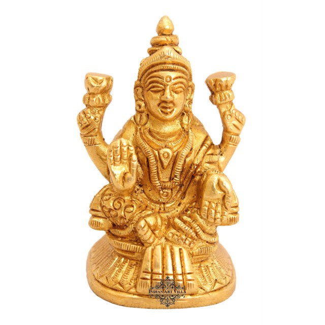 Indian art villa handmade bella ottone laxmi Ji Dea