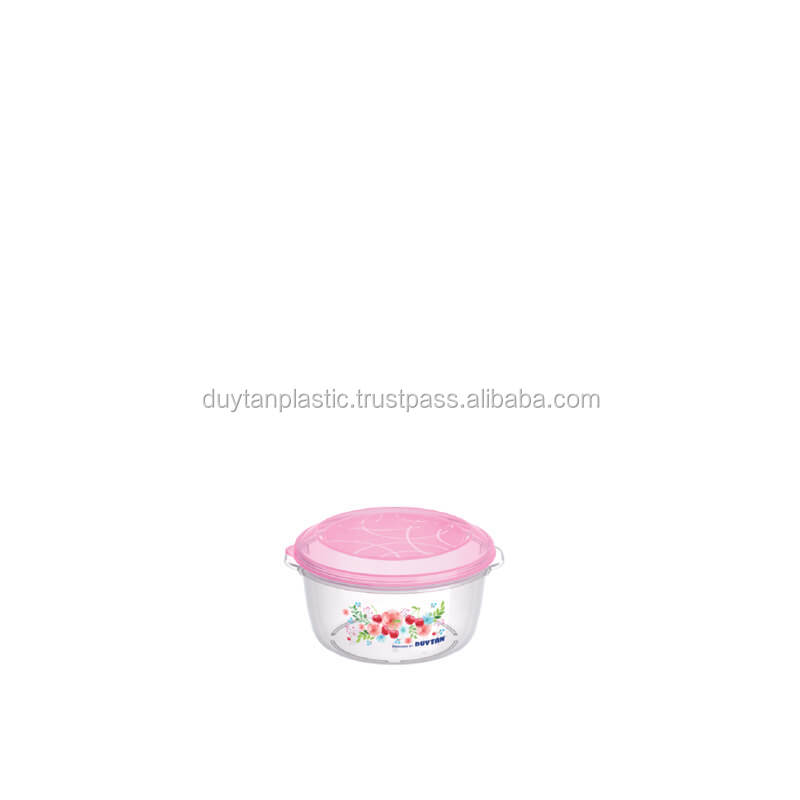 BPA FREE# Round Shape Plastic Food Container 3000ml #No.973# DUY TAN PLASTICS