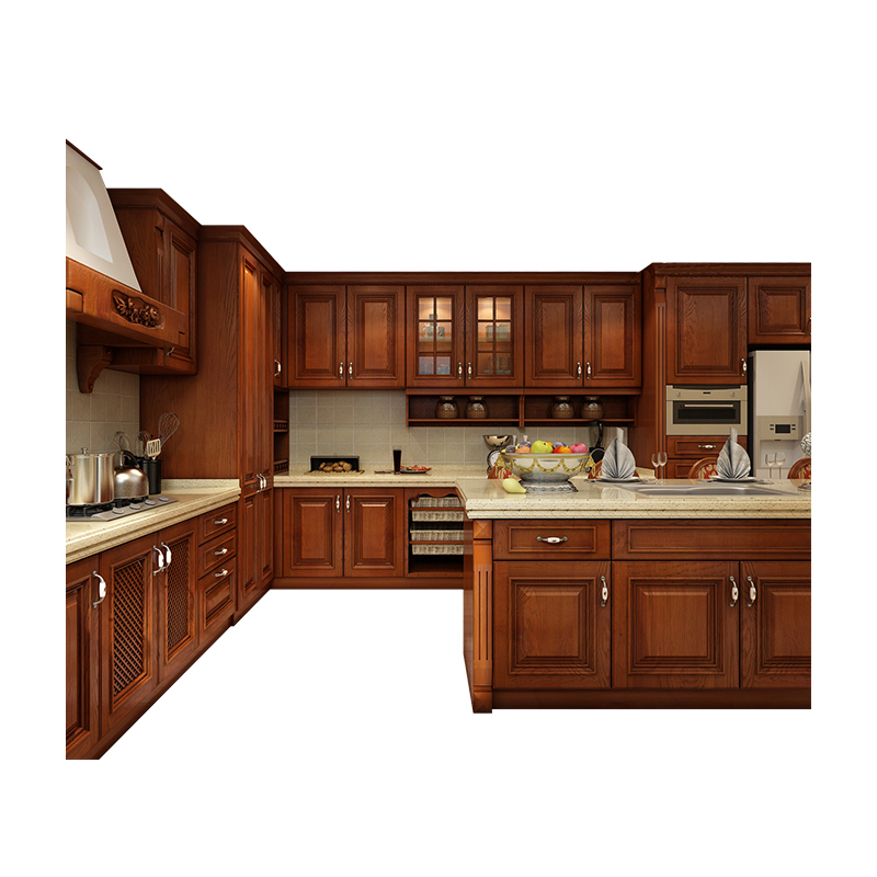North America Standard Household Design Classic Brown Wooden Kitchen  Cabinet - Buy Wooden Kitchen Cabinet,Classic Kitchen Cabinet,America  Kitchen ...