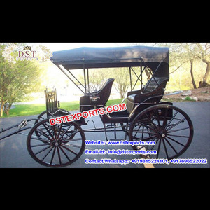 Small Pony Driven Horse Carriage for Sale, Wedding Limousin Horse  Carriages, Two Seater Carriage For Hotel Touring