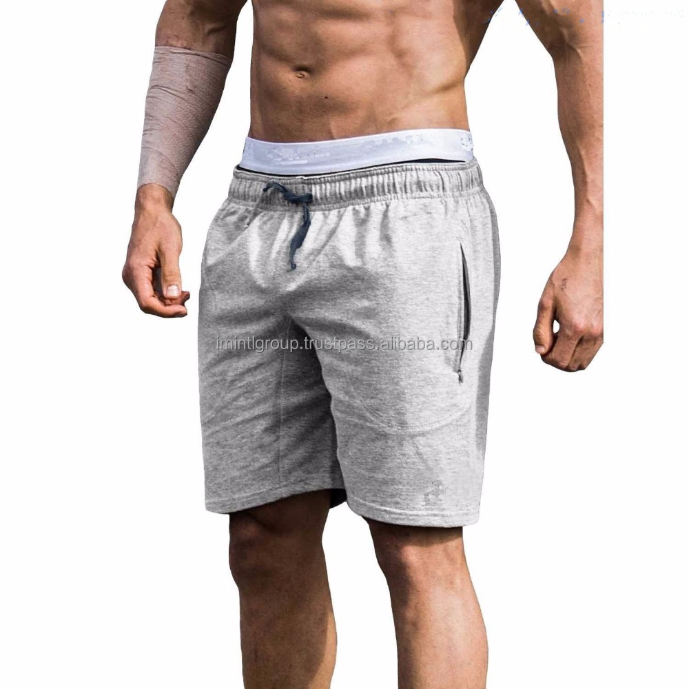 High quality 65% polyester / 35% cotton, gym sportswear fleece short IM.3534
