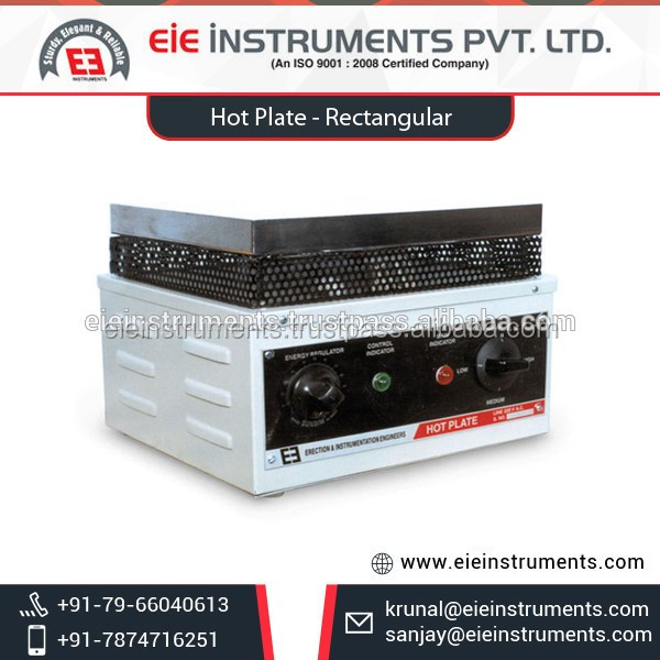 Rectangular Laboratory Hot Plate with Digital Temperature Controller