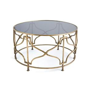 High-end Customized Metal Fancy Glass Coffee Table