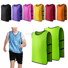 Team Football Soccer Training Adults Pinnies Jerseys Scrimmage Vest Plus Size
