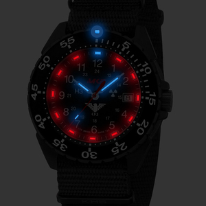 Tritium illuminated watch lights