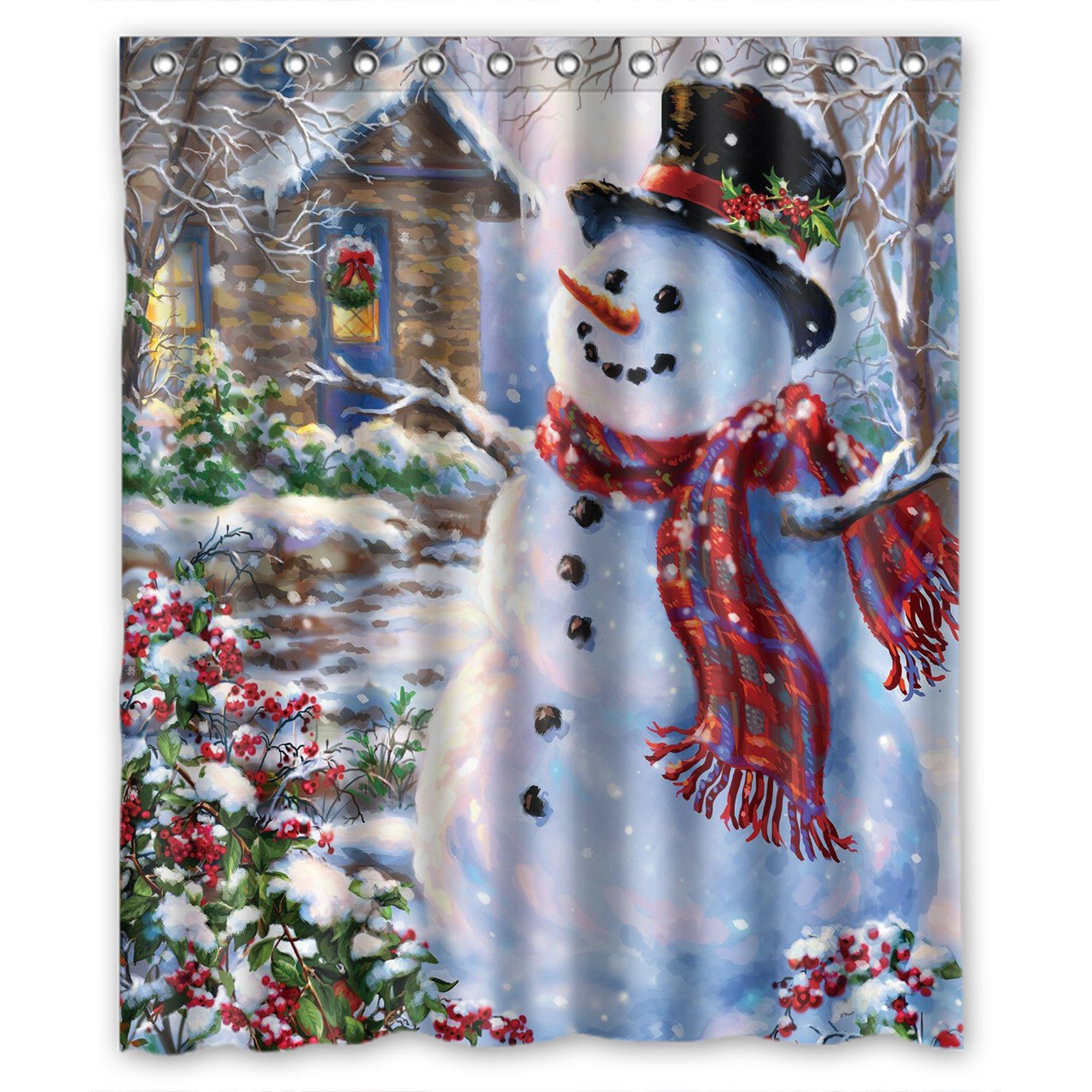 Buy Snowman Christmas Winter Holiday Shower Curtain Hooks