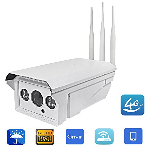 Industrial Pro Full HD 1080P 5X Zoom Bullet IP Camera Wireless GSM 3G 4G SIM Card Night Vision CMOS Commercial IP Camera WiFi Outdoor Wireless Security Camera Waterproof for iPhone Android