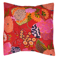 Wholesale Tropical Fruit Floral Cotton Kantha Throw Living Room Decoration Embroidered Sofa Kantha Cushion Cover Pillowcase