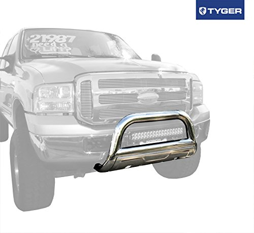 TYGER 3.5inch Oval Stainless Steel Bull Bar Fits 00-06 Ford Excursion/99-07 Ford Super Duty