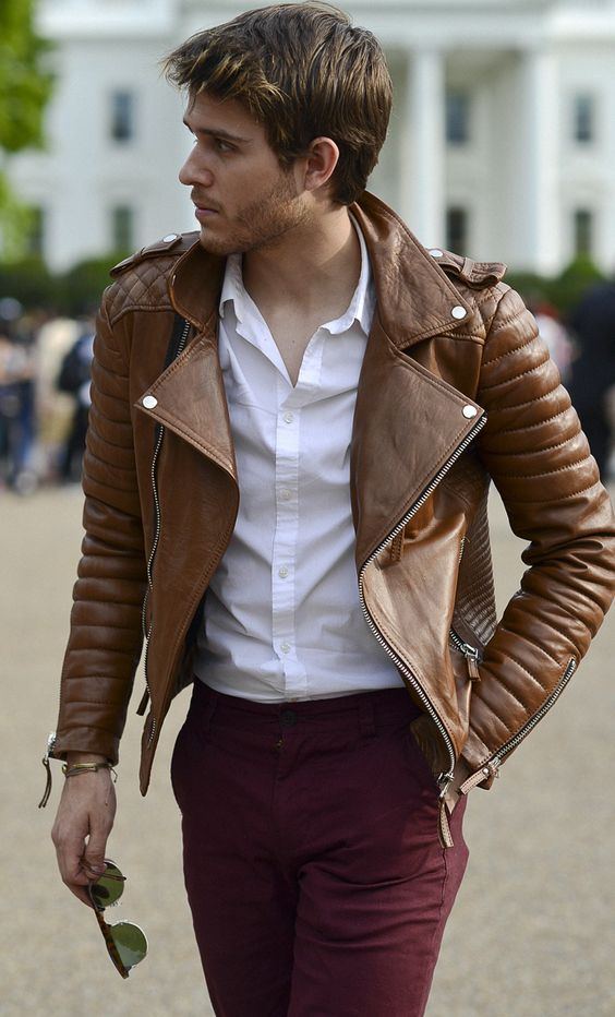 Dark Brown Leather Jackets For Fashion/womens Leather Jacket ...