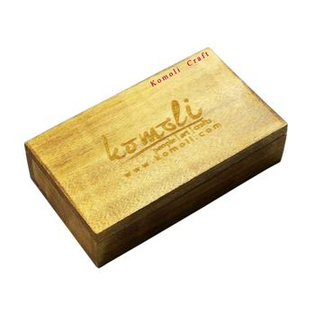 Indian handmade personalized custom laser engraving wooden box