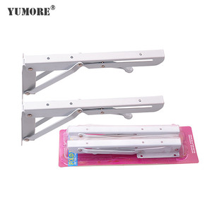 Wall mounted folding desk shelf hardware fold down shelf hardware brackets support made in Guangdong