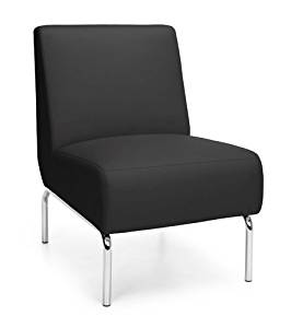 """Ofm Armless Chair Overall Dimensions: 22""""W X 29""""D X 33""""H Seat Size: 22""""W X 20.5""""D Back Size: 22""""W X 14.5""""H Seat Height: 18.5"""" - Black"""