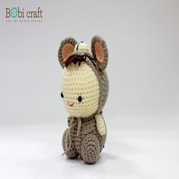 Mouse Morbido Di Lana Giocattoli Della Peluche Fatti A Mano Maglia Crochet Della Mano Giocattoli Regali Per I Bambini Decorazione Giocattoli