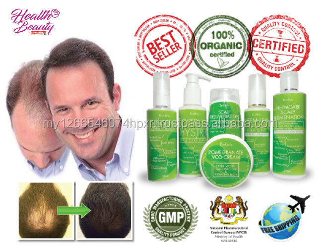 Malaysia 100% Herbal Plant Based Anti Hair Loss Treatment Products