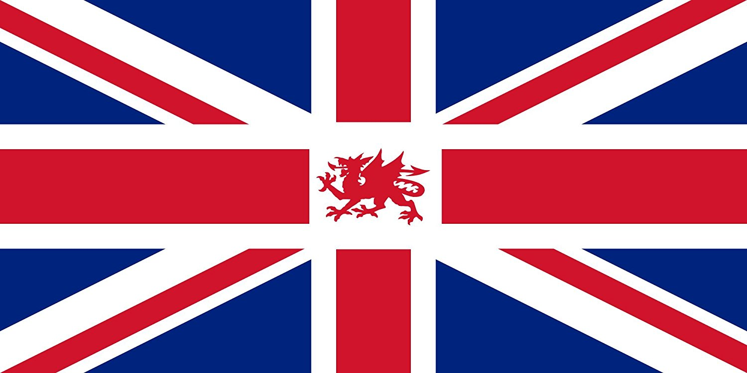 magFlags Large Flag UK+Wales | Proposed version of the Union Jack including the Welsh dragon | landscape flag | 1.35qm | 14.5sqft -- 100% Made in Germany -- long lasting outdoor flag