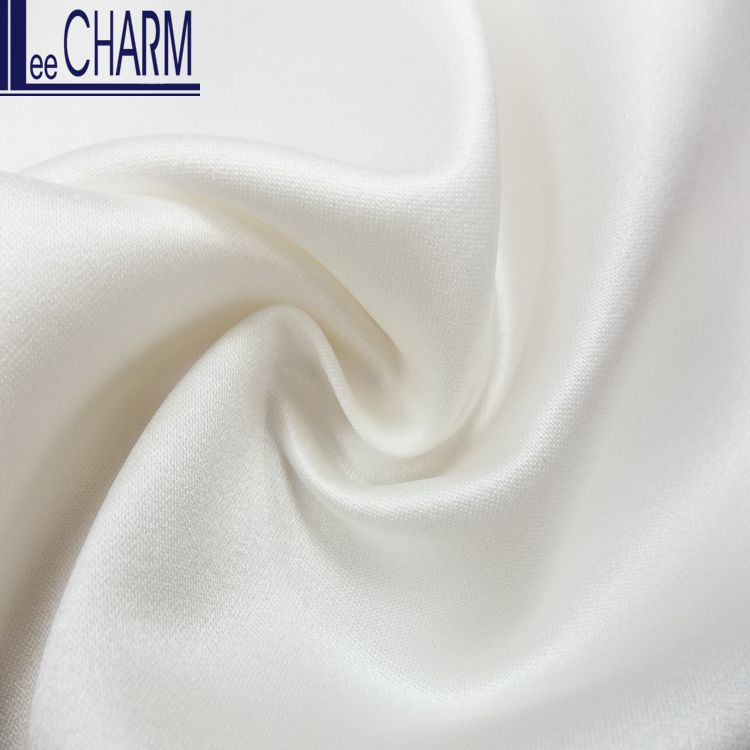 CS615 Taiwan White Elegant Duchess Satin Bridal Fabric Stock