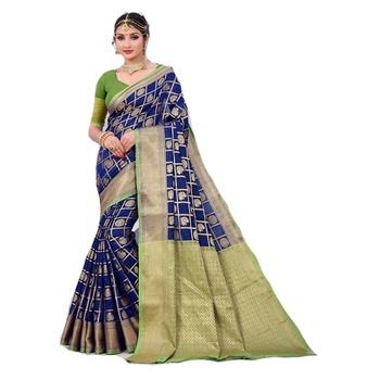 65c52f5334 Indian Bridal Saree / 100% Pure Silk Saree / Heavy Border Work Saree ...