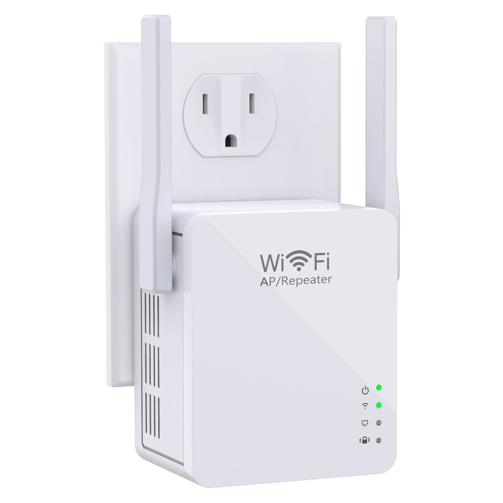 Ahutoru Wi-Fi Range Extender, Access Point Mode /Repeater Mode WiFi Repeater With Micro USB Port (White)