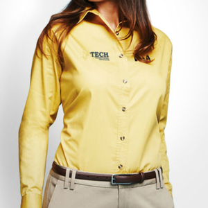 OEM Service Women's Factory Bulk Customize Corporate Shirts With Custom Printed Embroidered Logo