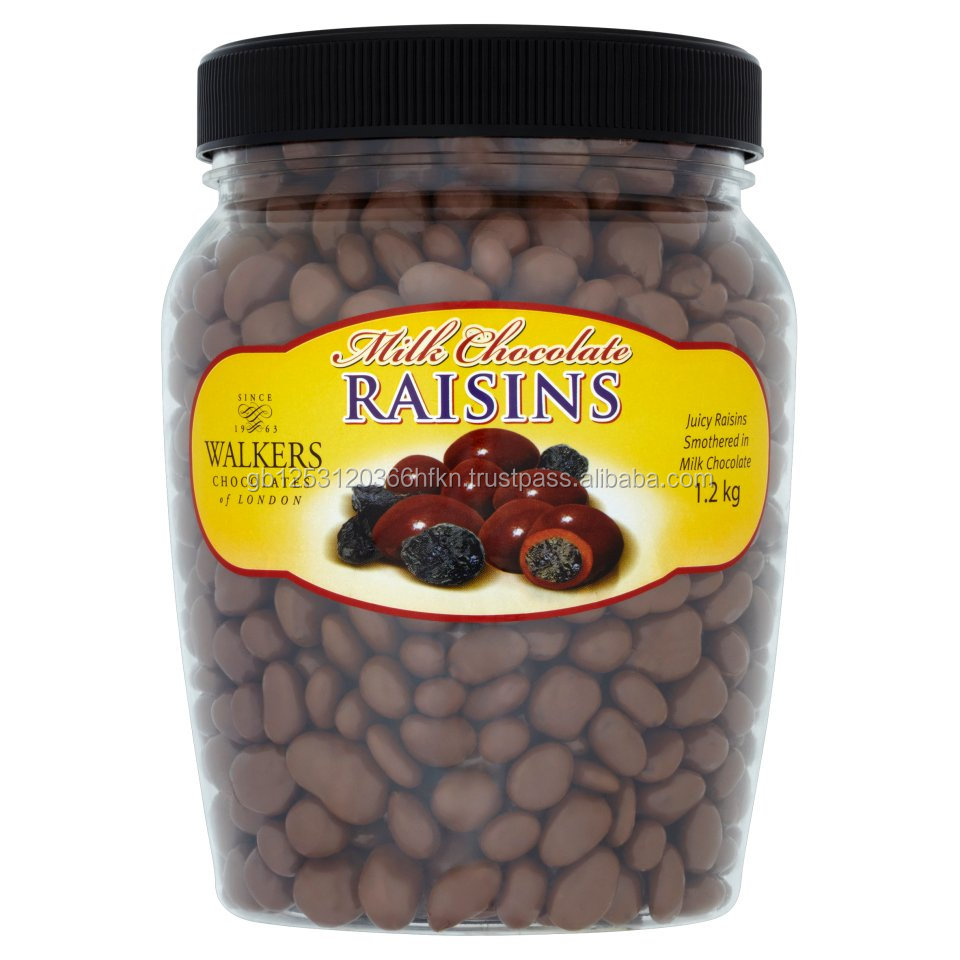Walkers Chocolates of London Milk Chocolate Raisins 1.2kg