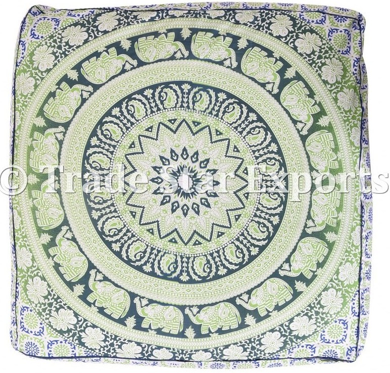 Elephant Tapestry Pillow Covers Mandala Cushion Cover Pet Bed Luxury Floor Pillow Case