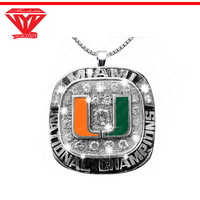 National champions sterling 925 silver championship gemstone pendant